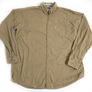 Columbia Shirt Top Button Front Mens Size XLTall